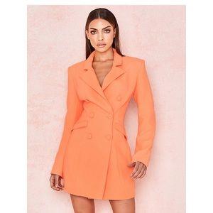 House of CB ' Raven'Orange Crepe Blazer Dress